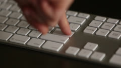 Pressing enter key multiple times Stock Footage
