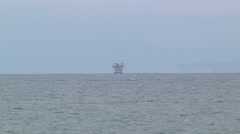 Offshore Oil Drilling Platform Rig Petroleum Energy Independence Spill Tar Stock Footage