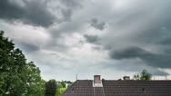 Thunderstorm Clouds Time Lapse Stock Footage
