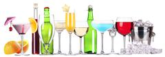Set of different alcoholic drinks and cocktails - stock photo