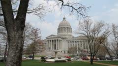 Missouri capitol Jefferson City c Stock Footage