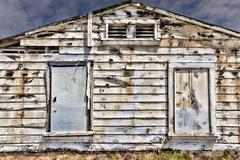 Dilapidated exterior wood wall Stock Photos