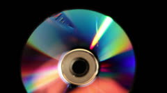 Melting CD / DVD - stock footage
