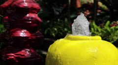 Water decoration in the garden Stock Footage