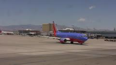 Flight on Tarmac - stock footage