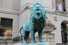 Art institute of Chicago Lion - stock photo