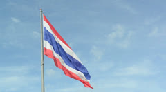 Nation flag against the sky Stock Footage
