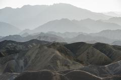 Landscape of mountains in zhangye Stock Photos