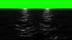 HD Green Screen CGI Ocean 7 (Star Wars Twin Suns) Stock Footage