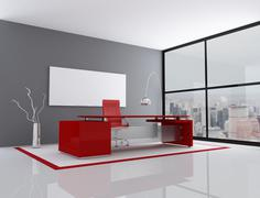 Red and gray city office Stock Illustration