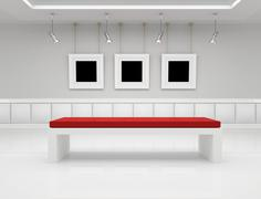 Modern art gallery Stock Illustration