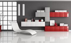 contemporay living room - stock illustration