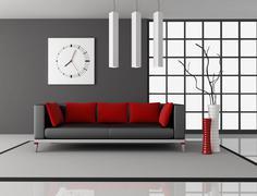 living room - stock illustration