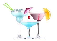 Alcoholic cocktail set Stock Photos