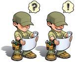 Handyman - reading plan khaki Stock Illustration