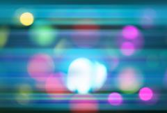 Abstract bokeh background with movement light Stock Illustration