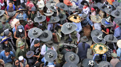 Inti Raymi festival in Cotacachi Stock Footage