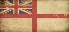 British naval ensign flat aged Stock Illustration
