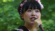 Japanese singer singing in Japan Festival Munich Stock Footage