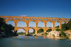 Pont du gard - long exposure version Stock Photos