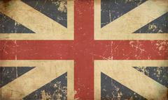 union jack 1606–1801 (the king's colours) flat aged - stock illustration