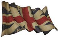 Union jack 1606–1801 (the king's colours) historic flag Stock Illustration