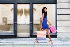 Happy fashion shopping consumer Stock Photos