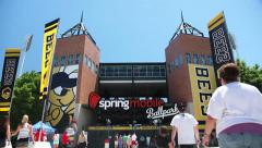 Ballpark tilt - stock footage