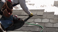 Stock Video Footage of Roofing tight shot