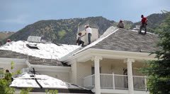 Stock Video Footage of Roofing house in mountains