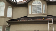 Roofing tilt - stock footage