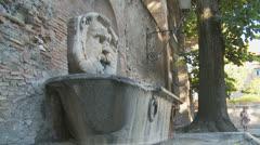 Aventino fountain next to Orange garden, Rome 2 (slomo dolly) Stock Footage