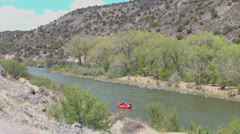 New Mexico Rio Grande raft p Stock Footage