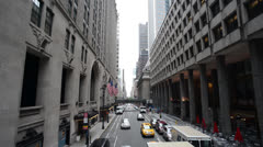 NYC Grand Central Overpass 45th street East view Stock Footage