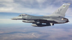 F-16 Fighting Falcon aircraft Stock Footage
