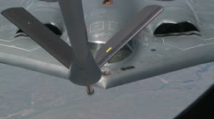 KC-135 Aircraft Tanker and B-2 Bomber Refueling Stock Footage