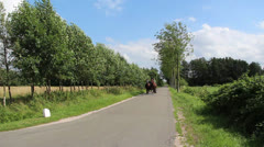 A traditional farmer with horse and carriage / buggy Stock Footage
