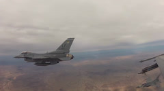 F-16 Fighting Falcon aircraft - stock footage