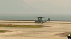 MV-22 Osprey Functional Check Flight - stock footage