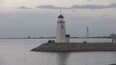 Oklahoma Lake Hefner lighthouse s2 Stock Footage