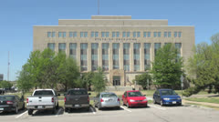 Oklahoma City government building s Stock Footage