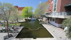 Oklahoma City Brick Town c Stock Footage