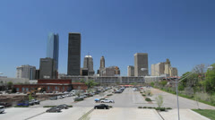 Oklahoma City skyline c Stock Footage