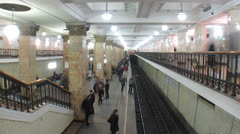 Moscow subway timelapse. Stock Footage