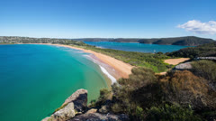Time lapse of Beautiful Australian Beach from the headland 110GYPBG NTSC Stock Footage