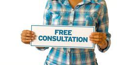 free consultation - stock illustration