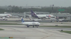 Jetblue passenger jet taking off from Fort Lauderdale Stock Footage