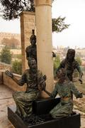 Statue at the church of Saint Peter in Gallicantu Israel Stock Photos