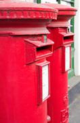 British red mail boxes Stock Photos