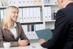 young professional in an interview - stock photo